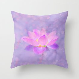 Lotus Emerging from the Water Throw Pillow