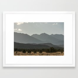 Rocky Mountain Haze Framed Art Print