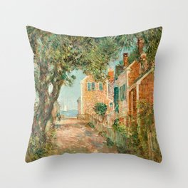 Classical Masterpiece 'Provincetown, Cape Cod' by Frederick Childe Hassam Throw Pillow