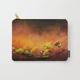 Apple Blossom Branch Painted ~ Ginkelmier Inspired Carry-All Pouch