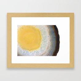 agate slice no. 3 Framed Art Print