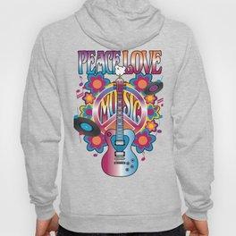Peace-Love-Music Hoody