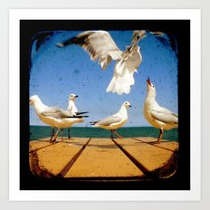 Seagulls - Number 2 from set of 4 Art Print