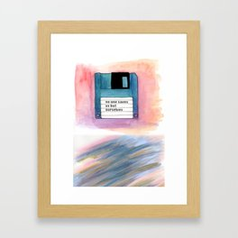 no one saves us but ourselves - floppy disk Framed Art Print