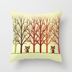 The duet Throw Pillow