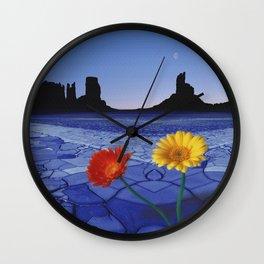 Desert Blues Wall Clock