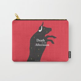 Ernest Hemingway book cover & Poster, Death in the Afternoon, bullfighting stories Carry-All Pouch
