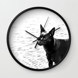 Australian kelpie, Australian sheep dog Wall Clock