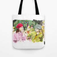 moonrise kingdom Tote Bags featuring moonrise kingdom by jgart