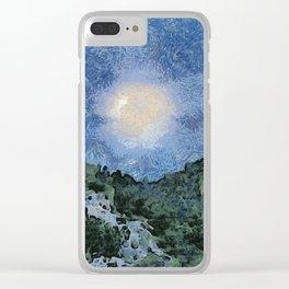 Starry Night Sunrise Clear iPhone Case