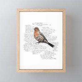 House Finch Framed Mini Art Print