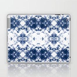 Shibori Tie Dye 3 Indigo Blue Laptop & iPad Skin