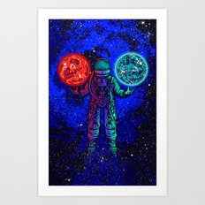 King of Planets Art Print