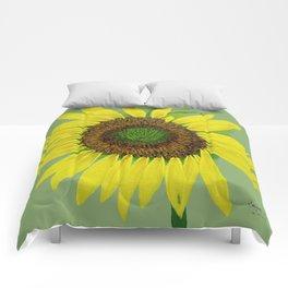 Sunflower painted  Comforters