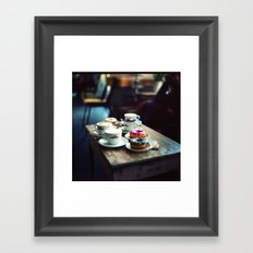 Donuts and Cappuccino Breakfast Framed Art Print