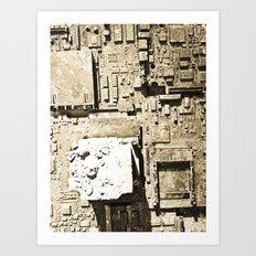 City Ruins Art Print