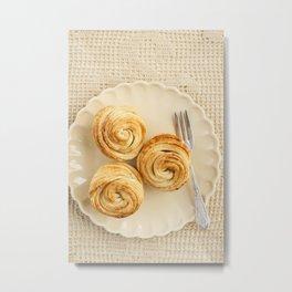 Fresh baked cruffins Metal Print