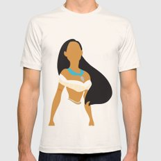 Pocahontas - Minimalist MEDIUM Natural Mens Fitted Tee