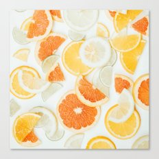 citrus fresh orange twist Canvas Print