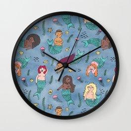Mischievous Mermaids Wall Clock