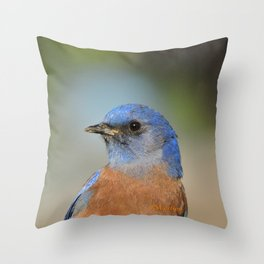 Bluebird in La Verne Throw Pillow