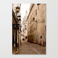 A walk to the Sacré Coeur Canvas Print