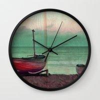 sailboat Wall Clocks featuring Sailboat by Regan's World