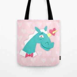 Unicorn Struck by Love Tote Bag