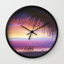 Paradise Is Calling Wall Clock
