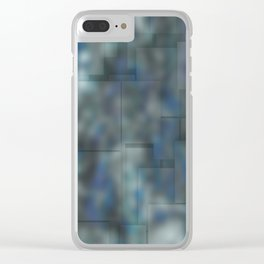 Abstract blue bluring pattern Clear iPhone Case