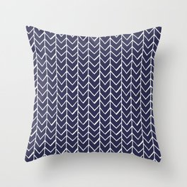 Herringbone Blue And White Throw Pillow