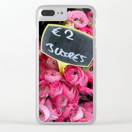 Pink Ranunculus for Sale Clear iPhone Case
