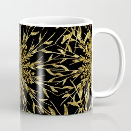 Black Gold Glam Nature Coffee Mug