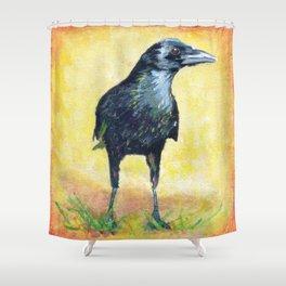 Cautious Crow Shower Curtain