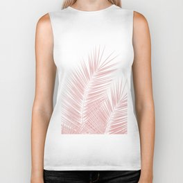 Blush Pink Palm Leaves Dream - Cali Summer Vibes #1 #tropical #decor #art #society6 Biker Tank