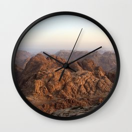 The view from Moses mountain. Sinai. Wall Clock