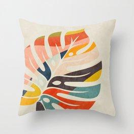 shape leave modern mid century Throw Pillow