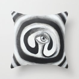 Eye Spiral Out Throw Pillow