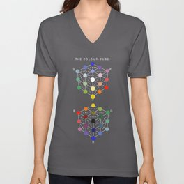 Illustration from the Manual of the science of colour by W. Benson, 1871, Remake (interpretation) Unisex V-Neck
