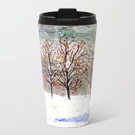 Snowy Trees along Moon Lake in Dewdrop Holler Travel Mug