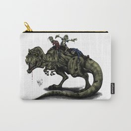 Zombies Riding a Trex Carry-All Pouch