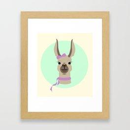 Mrs. Llama Framed Art Print