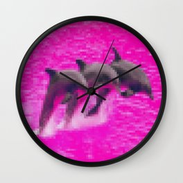 seapunk dolphin Wall Clock