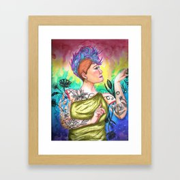 Flowers of My Skin Framed Art Print