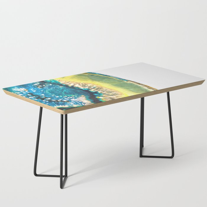 Blue and Yellow Agate Coffee Table