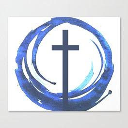 Circle Of Life - Cross Canvas Print