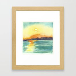 Cresent Bay Sunset Framed Art Print