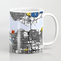 vancouver Mugs featuring Vancouver by Mondrian Maps