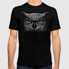 Moon Owl MEDIUM Mens Fitted Tee Black