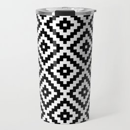 Aztec Block Symbol Ptn BW I Travel Mug